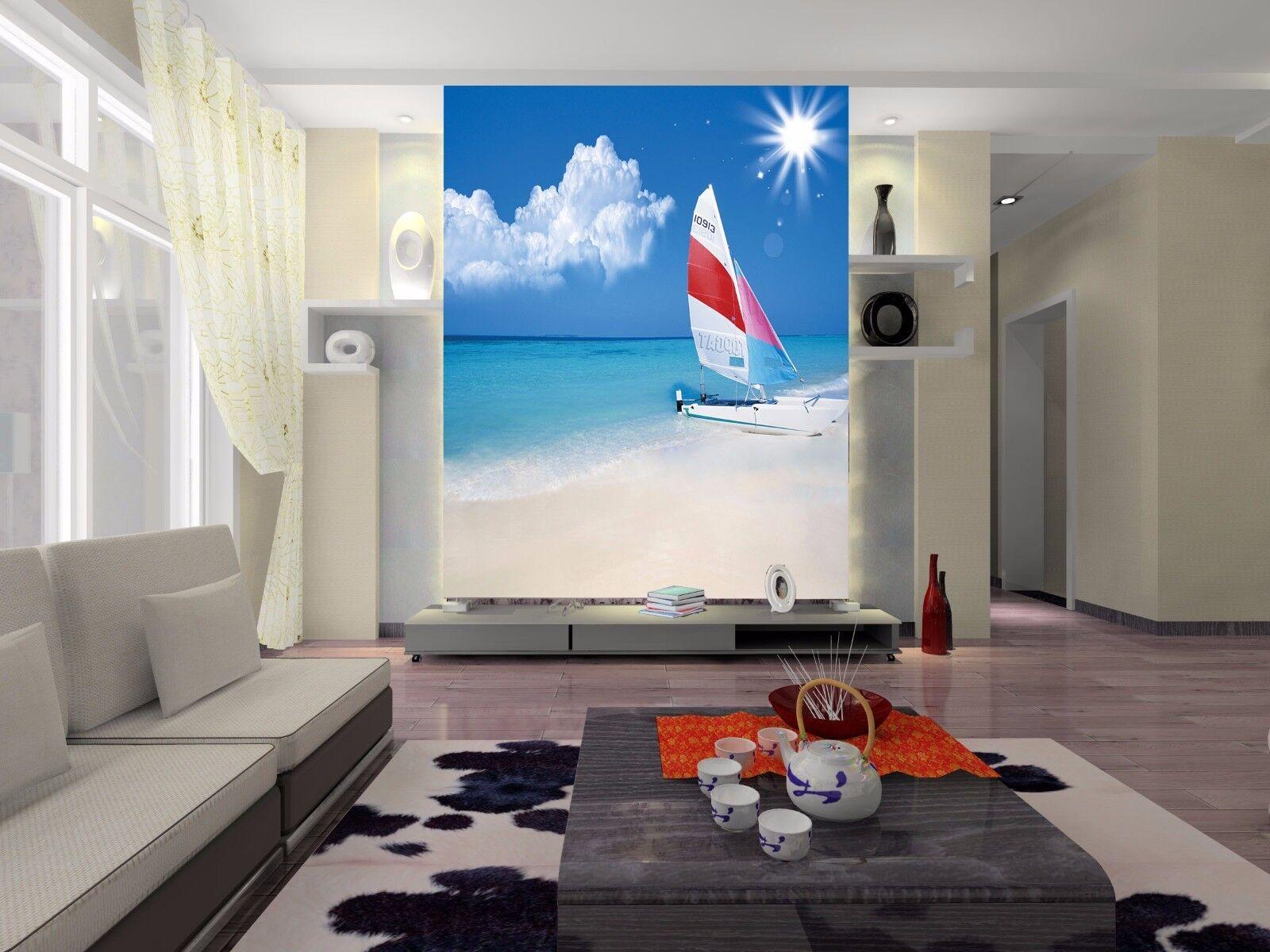 3D 3D 3D Sonne Segeln Strand 84 Tapete Wandgemälde Tapete Tapeten Bild Familie DE | Ausgezeichnetes Handwerk  | Ausgang  | Guter Markt  b5f9c6