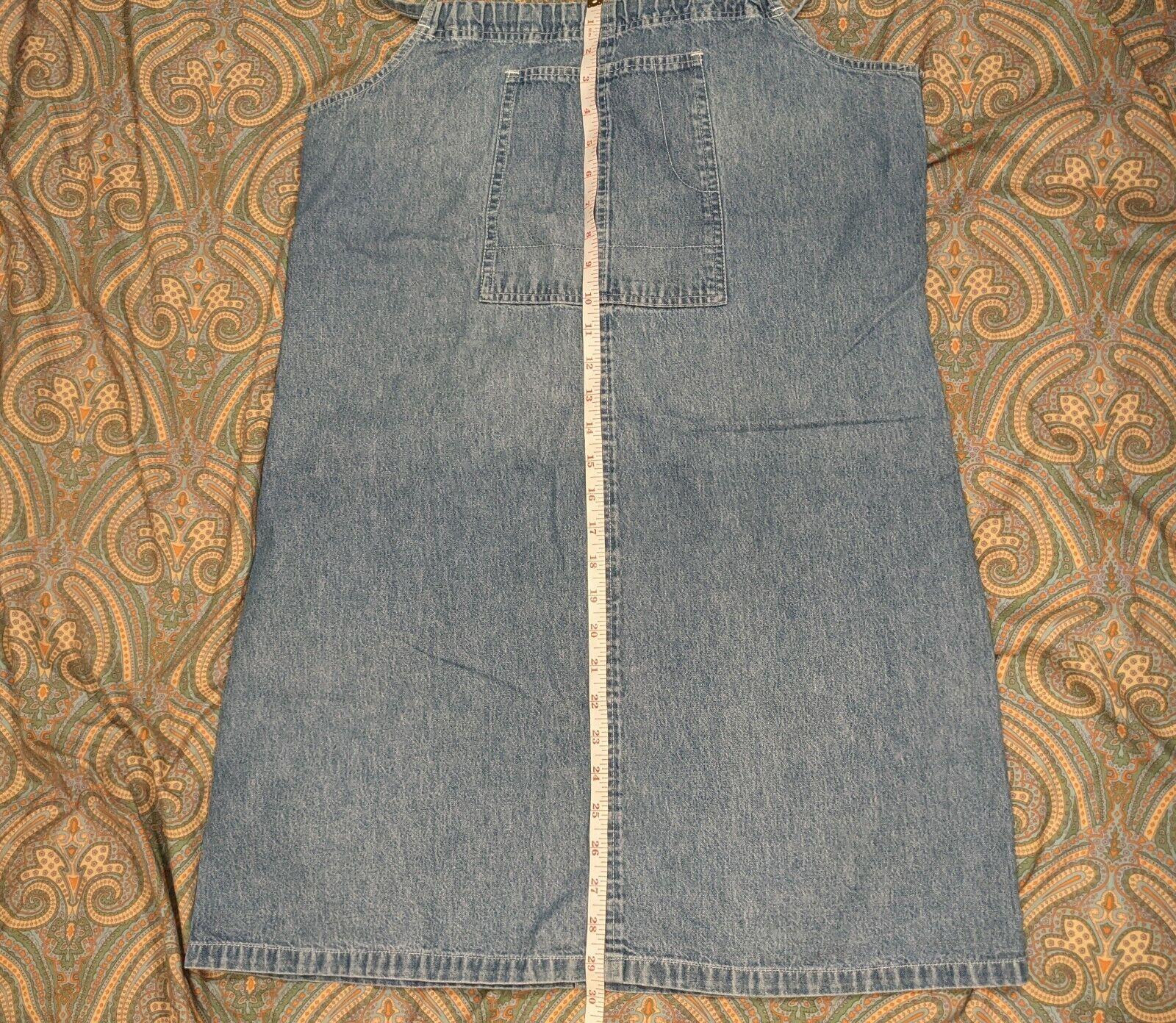 Vntg 80's-90's Highway denim apron pinafore halte… - image 5