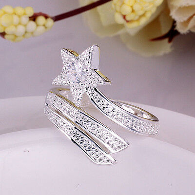 Fashion Plated silver Plated Opening Adjustable Animal Ring Valentine's Day gift
