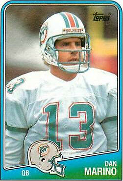 1988 Topps Dan Marino Miami Dolphins 190 Football Card For Sale Online Ebay