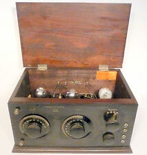 vintage * EARLY RARE - Untested 3 TUBE TRANSCONTINENTAL BATTERY RADIO type ZR-4