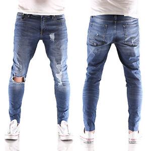 JACK-amp-JONES-Liam-Original-skinny-fit-Herren-Jeans-Hose-AM-661-blau-neu