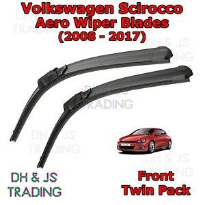 08-17-Volkswagen-Scirocco-Aero-Wiper-Blades-Limpiador-de-hoja-plana-Delantero-VW