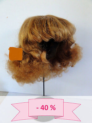 -40% Promo - Parrucca Bambola T16 (49.5) 100% Capelli Ricci Castano Rosso Vendita Calda Di Prodotti