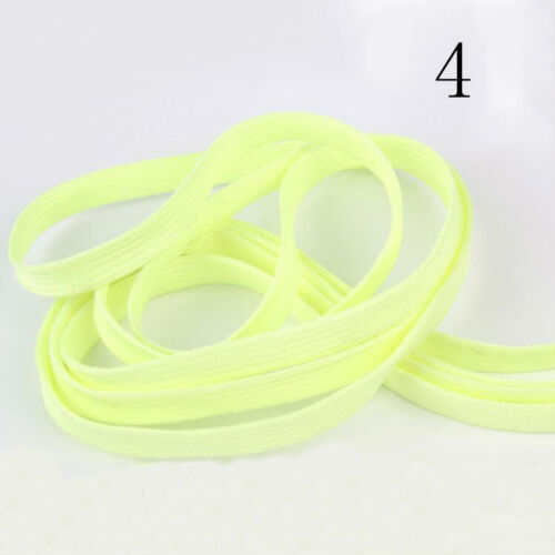 Glow In The Dark Shoelace Luminous Flat Athletic Boots Shoe Laces Strings N I7C9