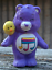 "thumbnail 2 - CUSTOM PAINT Lot of 5 Vintage UK Care Bear Characters 2"" Mini Figures  Daydream"