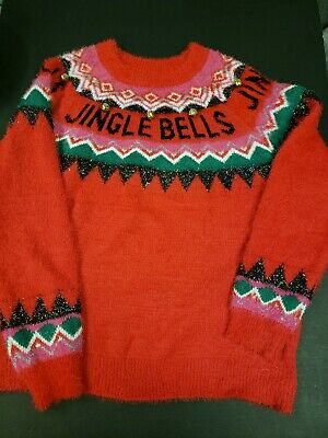 NWT Holiday Time Women's Jingle Bells Fair Isle Ugly Christmas Sweater Plus | eBay