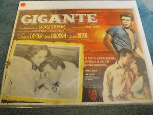 GIANT-1956-JAMES-DEAN-ELIZABETH-TAYLOR-ORIGINAL-MEXICAN-LOBBY-CARD