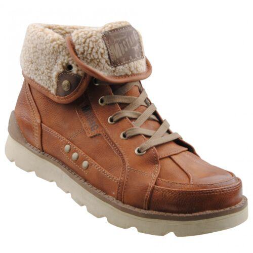 NEU Mustang Herrenschuhe Schuhe Herren-Stiefel gefüttert Winterstiefel Boots