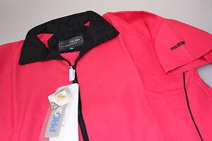 Proquip-Raspberry-Short-Sleeved-Liberty-Wind-Resist-Golf-Top-Teflon-Coat-S-10-14