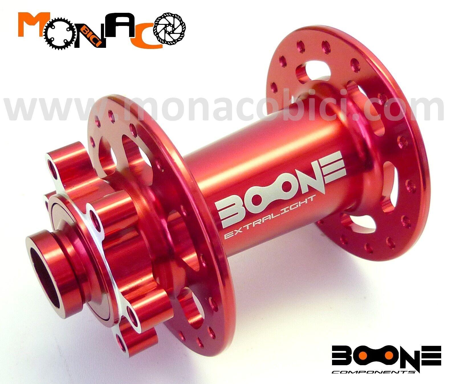 MOZZO ANTERIORE MTB DISCO BOONE EXTRALIGHT DH 110x20 red 32 FORI