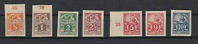 Sonderabschnitt Estland 26896 1922 Freimarken Handwerker 32-39b *,