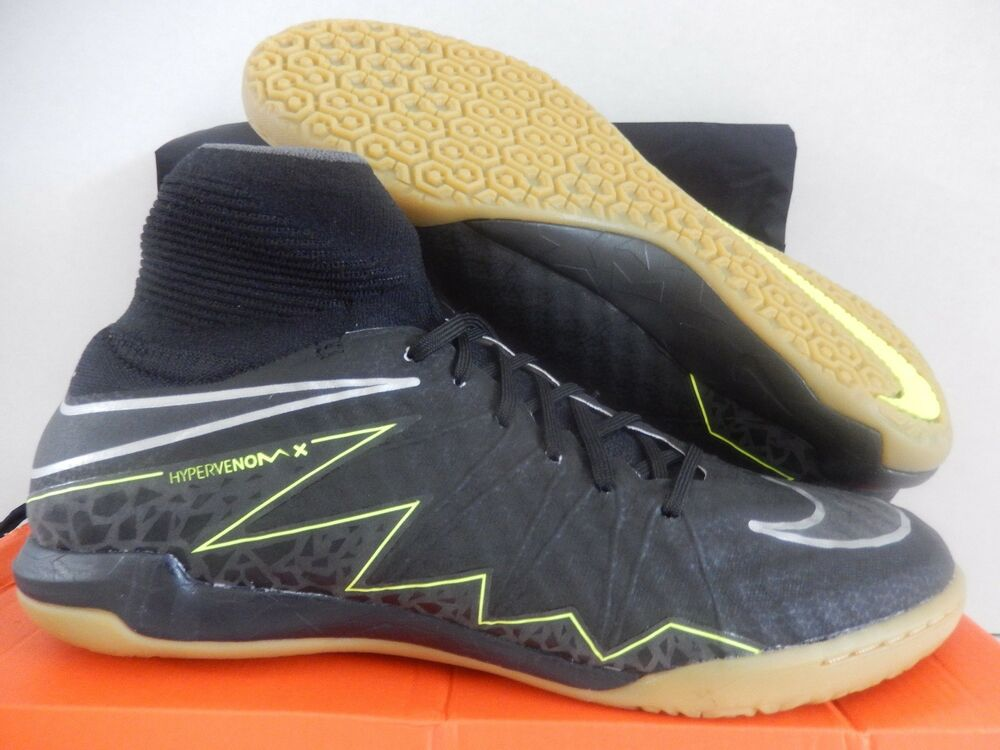 NIKE HYPERVENOMX PROXIMO IC INDOOR CLEATS noir-GUM BROWN SZ 9.5 [747486-007]