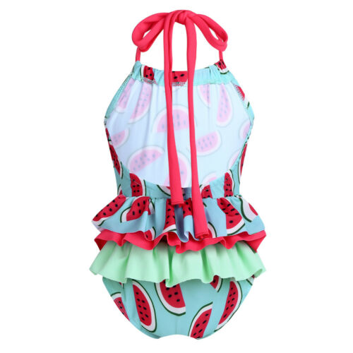 Girls Two Piece Tankini Swimsuit Halter Bathing Suit Tank Top+Bottoms Swimwear