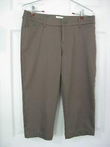 St-John-039-s-B-Sz-6P-Brown-Tan-Dress-Capris-Crops-6-Petite-Stretch