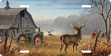 Deer Barn Tractor Farm Hunting Hunter Field License Plate Car Truck Tag