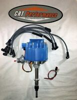 Chevy Inline 6 / Straight 6 194-230-250-292 Hei Distributor Blue + Plug Wires