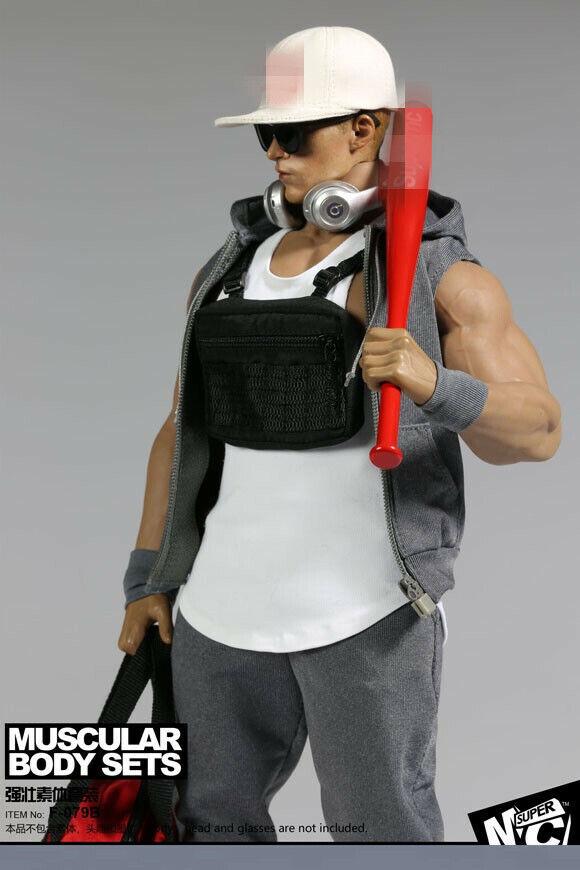 MC TOYS F-079B 1 6 musculoso cuerpo masculino Moda Ropa Conjunto caben 12  figura