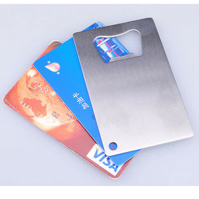 Collectables Factory Stainless Steel Beer Soda Bottle Cap Opener Credit Card Size Bar Tool Cn