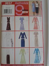 BUTTERICK 3037 SIZE 14-18   MS. PETITE TOP-SKIRT-SCARF