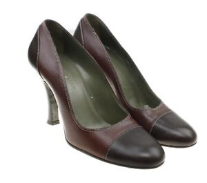COLE-HAAN-Womens-Two-Tone-Leather-Classic-Pumps-Heels-Career-Size-6-5-B-Italy