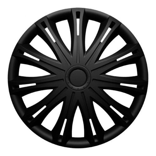 Radkappen Radzierblenden für 14 Zoll Felgen Typ Hubtraum 5 schwarz matt