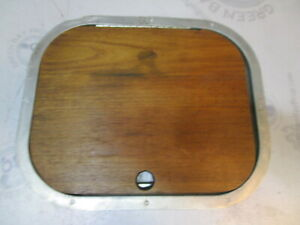 "BROWN ALUMINUM 5/"" X 5/"" MARINE BOAT VENT WITH GRILL WOOD FRAME"