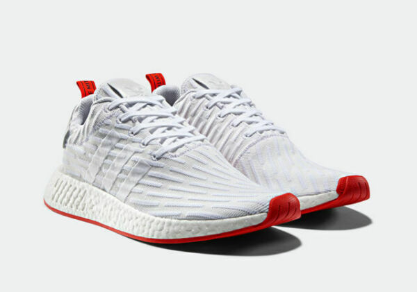 Size 9 - adidas NMD R2 Primeknit Running White 2017 - BA7253