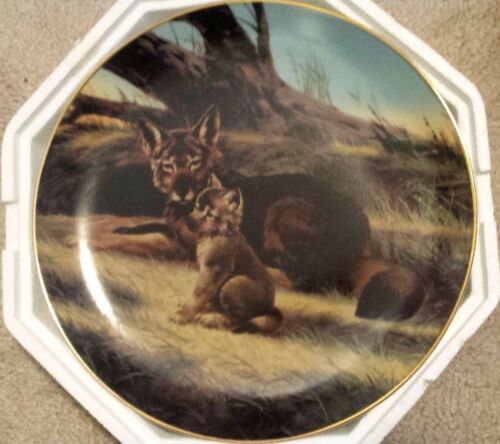 Bradford Exchange Endangered Species Red Wolf Collector Plate #3 Nelson