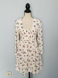 The-MASAI-Clothing-Company-White-Viscose-Long-Sleeves-Dress-Size-S