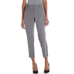 Apt 9 Modern Fit Tapered Ankle Pants Stright Slim Women S