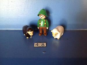 (48) playmobil 1.2.3. berger et ses moutons ref 6731