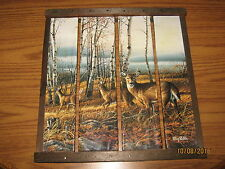 Terry Redlin The Birch Line Wood Plaque can be hung or put on a table
