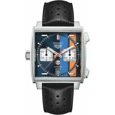 Brand New Tag Heuer Monaco Steve McQueen Special Edition Watch CAW211R.FC6356
