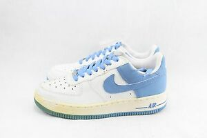 Details about NIKE AIR FORCE 1 (GS) 306291 149 WHITEUNIVERSITY BLUE DEAD STOCK &YELLOWING SHO