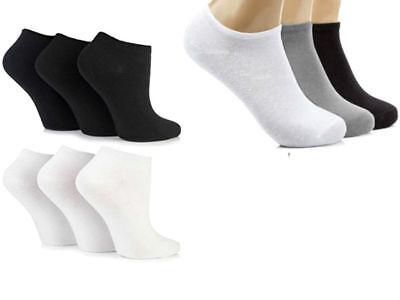 12 Pack Uomo Donna Plain Trainer Calzini Trainer Boot Caviglia Calzature Ordinati-mostra Il Titolo Originale