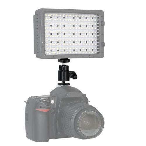 """Video Halterung für LED-Videoleuchte Halter Kugelgelenk 1//4/""""-Gewinde /& Hotshoe"""