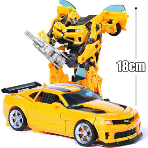 HZX h602 Deformable Bumblebee 7in Action Figure Robot Movie Kids Child Gift Toy