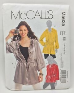 McCall-039-s-Sewing-Pattern-M5635-Misses-Anorak-Jacket-in-Two-Lengths-Size-14-20