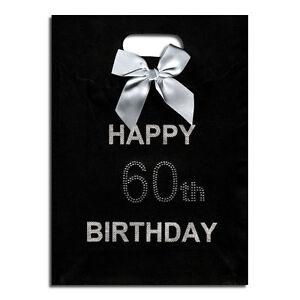Image Is Loading 60th Big Birthday Happy Black Gift Bag