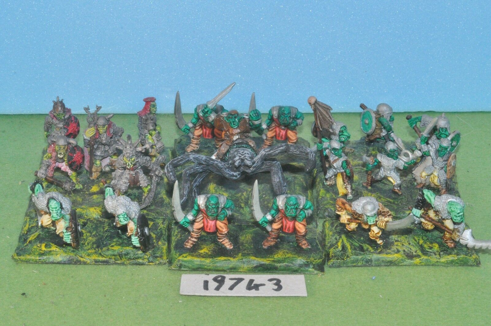 Item fantasy   warhammer - orc boys 19 metal & spider rider metal - (19743)