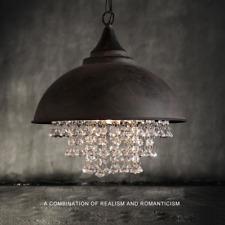 rustic crystal chandelier large rustic industrial crystal pendant light loft vintage chandelier ceiling lamp