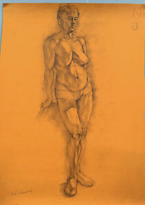 Academic-Drawing-Anatomy-Female-Women-Nude-Naked-Figure-4-Study-Russian-Fine-Art