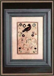 Red-Bird-Fraktur-Knotted-Tree-NeedleArt-New-Chart