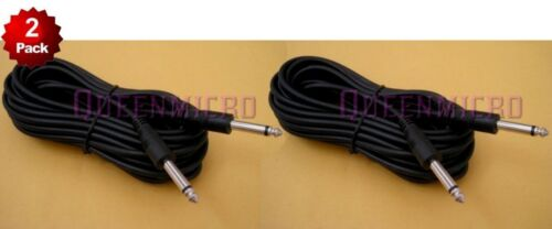 """2 x 50Ft Mono 1//4/"""" 6.3mm Male Guitar Amplifier Mic Audio PA Headphone Cord Cable"""