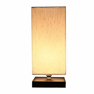 Details About Bedside Table Lamp Fabric Shade Minimalist Solid Wood Lamps Nightstand New