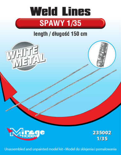 Mirage Hobby 235002-1:35 Weld Lines WhiteMetal Length:150cm