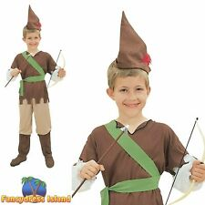 BOYS HUNTER ROBIN HOOD FANCY DRESS COSTUME MEDIEVAL PETER CHILDS PAN ARCHER KIDS