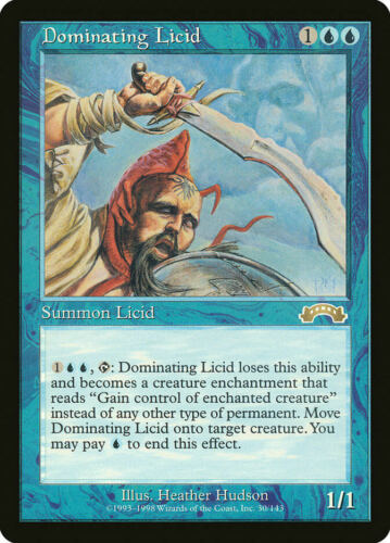Dominating Licid Exodus Rare EN NM MTG