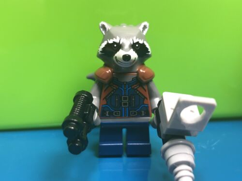 New LEGO Rocket Raccoon Minifig Super Heroes 76079 Authentic Minifigure SH384